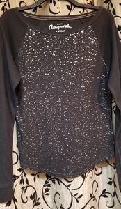 Black sequined embellished shirt
